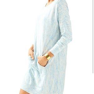 Lilly Pulitzer blue Jupiter sweater dress.  Sm